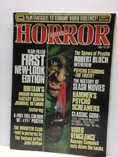 Halls of Horror Magazine #25 Poster Centerfold Texas Chainsaw Friday 13th RARE!