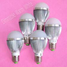 5 Pcs E27/E26 Dimmable Warm White Energy Saving Led Light Bulb Lamp 110V 15W Usa