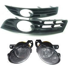 2x B6  Fog Light Lamp + Bumper Front Grilles Grill 3C For VW Passat 2006-2009