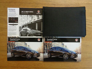 Vauxhall Corsa Owners Handbook/Manual and Wallet 15-20