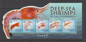 Philippine Stamps 2019 Deep-Sea Shrimps, Cut to shape souvenir sheet MNH