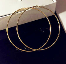 Big Extra Large Hoop 80mm Circle Basketball Gold Colour Earrings