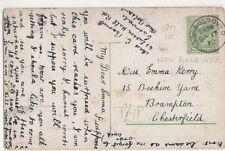 Miss Emma Kerry, 15 Beehive Yard, Brampton Chesterfield 1910 Postcard, B377