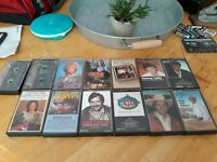 Vintage 80s Retro Classic Country Music Singers Artist Cassette Tapes. Lot Of 13