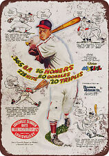 Stan Musial for Louisville Slugger Bats Vintage Reproduction Metal Sign 8 x 12