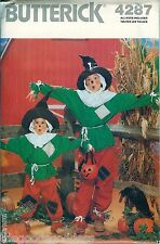 Butterick 4287 Scarecrow Costume Pattern fall UNCUT SZ 7-14 NEW BOYS GIRLS KIDS