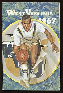 1967 NCAA Basketball Media Guide West Virginia EX+