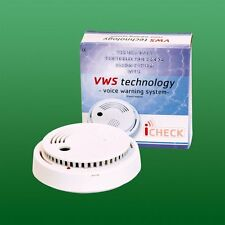 Smoke Detector with voice warning & backup battery