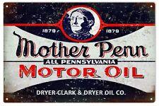 Vintage Mother Penn Motor Oil And Gas  Dryer Clark & Dryer Oil Co. Sign