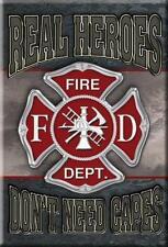 Feuerwehr Magnet Magnetschild aus USA  - Real Heroes Fire Department