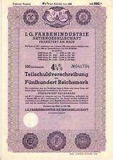 I.G. Farbenindustrie  Frankfurt  1939   500RM