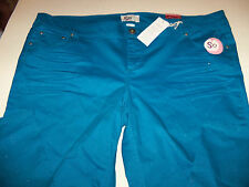 SO STRETCH SKINNY GLITTER JEANS JUNIOR PLUS SIZE 22 AVE  NWT