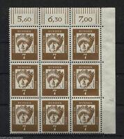 BRD/Bund Nr.348 y DZ 4 ** sauber postfrisch /MNH Eckrandstück Ecke 2 Mi. 48 €