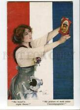 3010174 Jack Russell Terrier & Lady French Flag by Butcher old