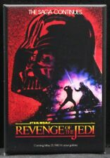 "Revenge of the Jedi Poster 2"" X 3"" Fridge / Locker Magnet. Star Wars Vader"