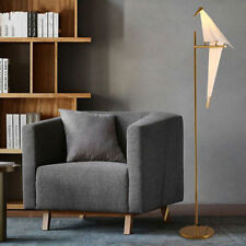 72 Inch Modern Floor Lamp Golden Finish Bird Swing Floor Light Bedroom Study