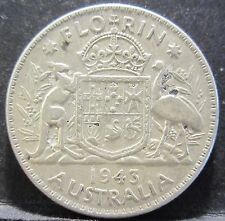 1943 Australia 2/- Two Shillings One Florin #RB1707-30