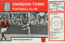 Football Programme - Swindon Town v Hartlepool United - Div 3 - 1969