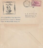 US 1935 WILL ROGERS MEMORIAL COVER FLOWN FROM LOS ANGELES CALIFORNIA