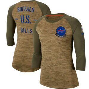 NFL Buffalo Bills Women's Salute to Service Legend 3/4 Sleeve T-Shirt # Medium