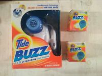 Tide Buzz Ultrasonic Stain Remover Laundry Detergent Spot Cleaner w  (2) Refills