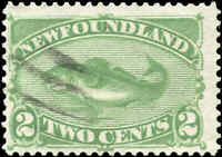 Used Canada 1882 Newfoundland 2c F+ Scott #46 Stamp