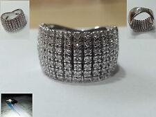 Anello oro bianco 18 kt 750  gr. 13 con diamanti VS1  -1,55 ct certificati