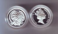 1991 SILVER Proof Two 2 Cent Frilled Necked Dragon Lizard ex Masterpieces