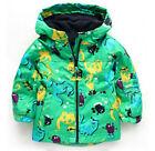 2pcs Toddler Baby Boys wind-proof / rain-proof Hooded Coat pants Clothes set