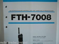 Yaesu Fth-7008 (Genuino Manual de servicio solamente)............ radio_trader_ireland.