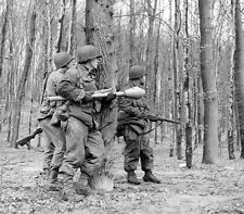 WWII Photo US Soldiers with Panzerfaust Rockets World War Two WW2 B&W / 1320