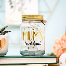 Mum's Treat Fund Money Jar - Mother's Day gift Idea - Piggy Bank Money box