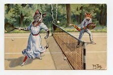 Arthur Thiele. Cats Humanized. La Part Tennis Set