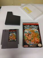 Nintendo NES Joe & Mac video Game Original CIB