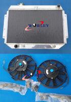 3 Core Aluminum Radiator for HOLDEN KINGSWOOD HQ HJ HX HZ 253 & 308 V8 + 2 * Fan