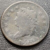 1810 Large Cent Classic Head One Cent 1c Circulated   #28970
