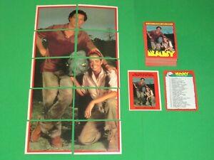 1985 BABY MOVIE BASE 66 CARD SET! + INSERT 11 STICKER SET! TOPPS DINOSAURS!