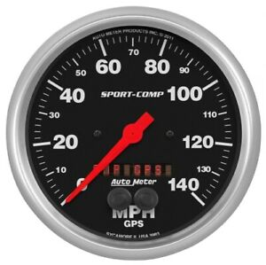 "Auto Meter 3983 5"" GPS Speedometer 0-140 Mph Sport-Comp NEW"