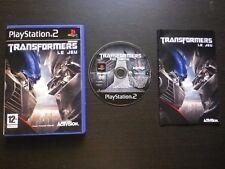 TRANSFORMERS LE JEU : Sony PLAYSTATION 2 PS2 (Activision COMPLET envoi suivi)