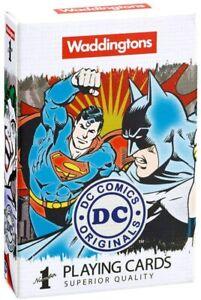 Waddingtons DC Comics Retro Number 1 Playing Cards * NEW - FAST UK DISPATCH *