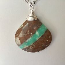 Handmade Genuine Gemstone Jewellery, Chrysoprase necklace.