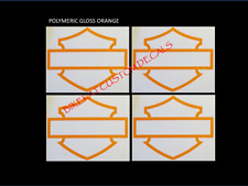 2 or 4 x HARLEY DAVIDSON style BLANK BAR and SHIELD Tank decal sticker colours