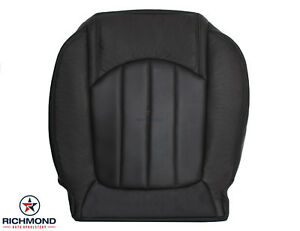 2011 GMC Acadia Denali - Driver Side Bottom Replacement Leather Seat Cover Black