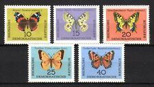 Germany / DDR - 1964 Butterflies - Mi. 1004-08 MNH