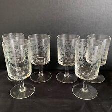 More details for theresienthal connoisseur small stem glasses set - 6 handgravour crystal bavaria
