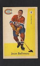1959 Parkhurst #6 Jean Beliveau, HOF, Vintage Montreal Canadiens Hockey 1959-60