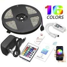 5M 150 LED Strip Light Smart WIFI Wireless Neon Light Home/Garden Kit 16 Colors