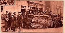 1919 ROTOGRAVURE O'SULLIVAN SHOP LIMERICK SANDBAGS TROOPS BARRACKS