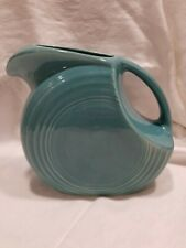 Homer Laughlin Fiesta Turquoise large Disc Pitcher