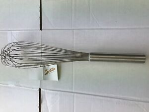 "35cm/14""Commercial Catering Heavy Hand Balloon Whisk Egg Beater Stainless Steel"